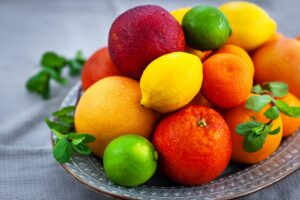 Fresh juicy citrus fruits