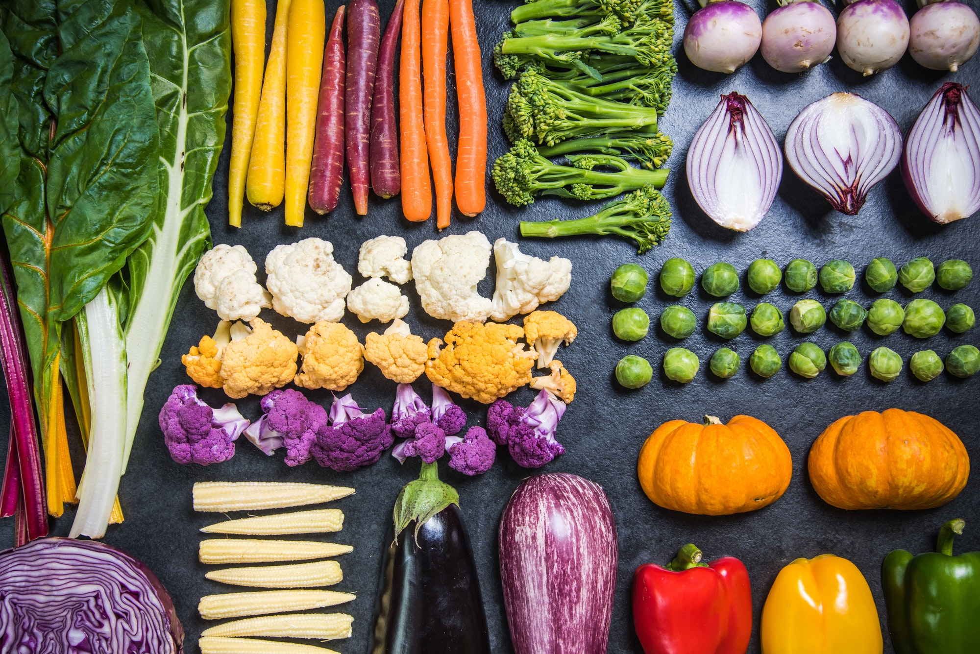 Colorful vegetables for healthy diet