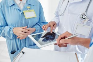Physicians planning surgery