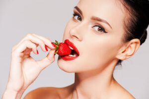 Strawberry lips.